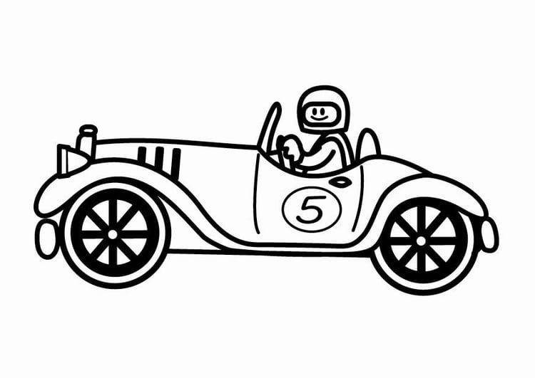 Disegno Da Colorare Macchina Da Corsa D Epoca Cat 24085