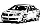 Disegno da colorare macchina da corsa