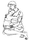 Disegno da colorare madre e figlio