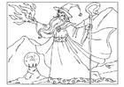 Disegno da colorare mago
