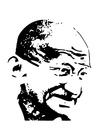 Disegno da colorare Mahatma Gandhi