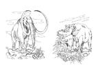 Disegno da colorare mammut - erbivoro