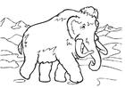 Disegno da colorare mammut