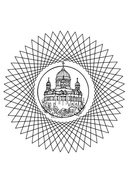 Disegno Da Colorare Mandala Chiesa