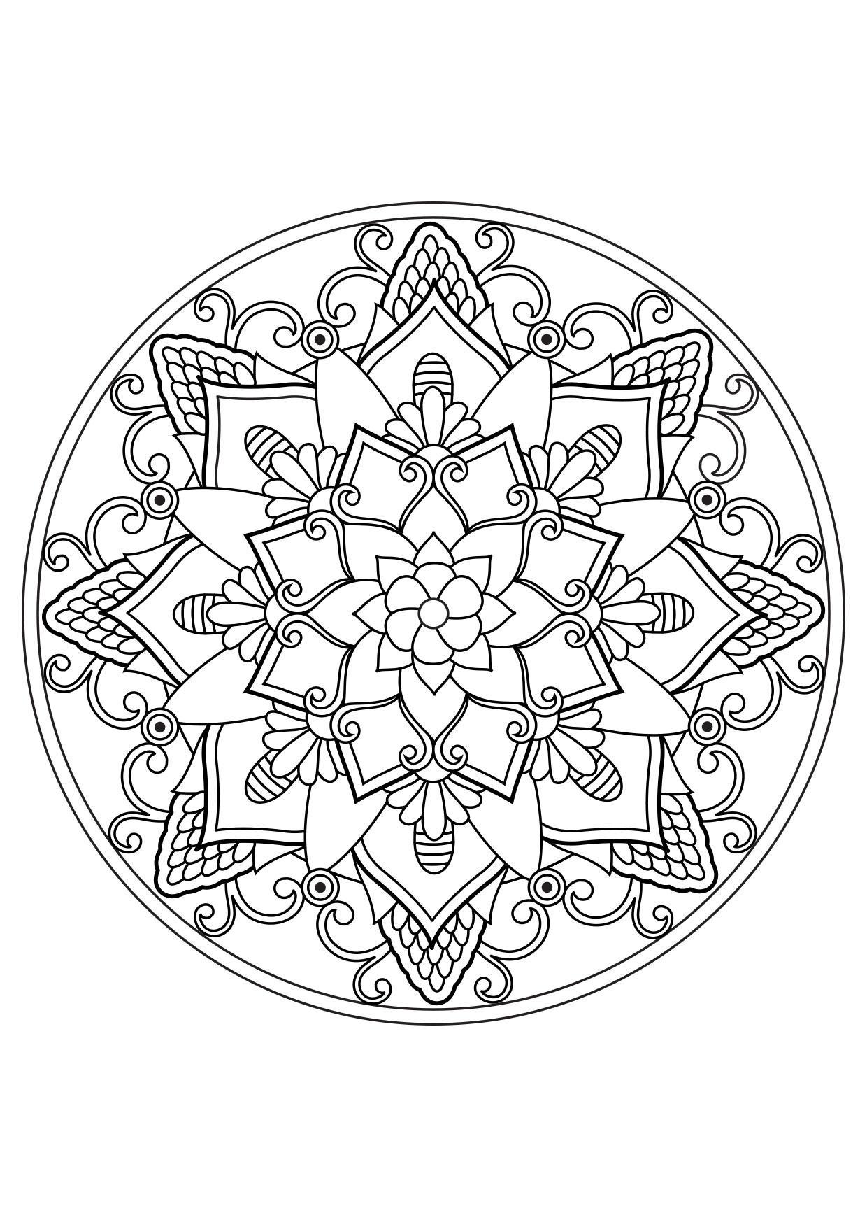 Disegni Da Colorare Mandala Da Stampare.Disegno Da Colorare Mandala Disegni Da Colorare E Stampare Gratis