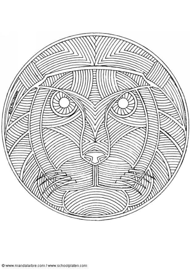 Disegno da colorare mandala leone cat 4551 - Mandalas animaux ...