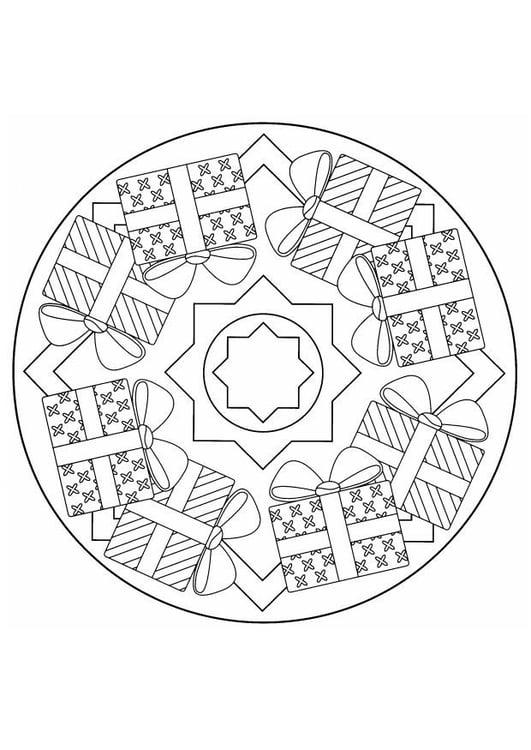 Disegno Da Colorare Mandala Natalizia Cat 4403