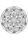 Disegno da colorare Mandala
