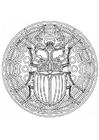Disegno da colorare mandala scarabeo