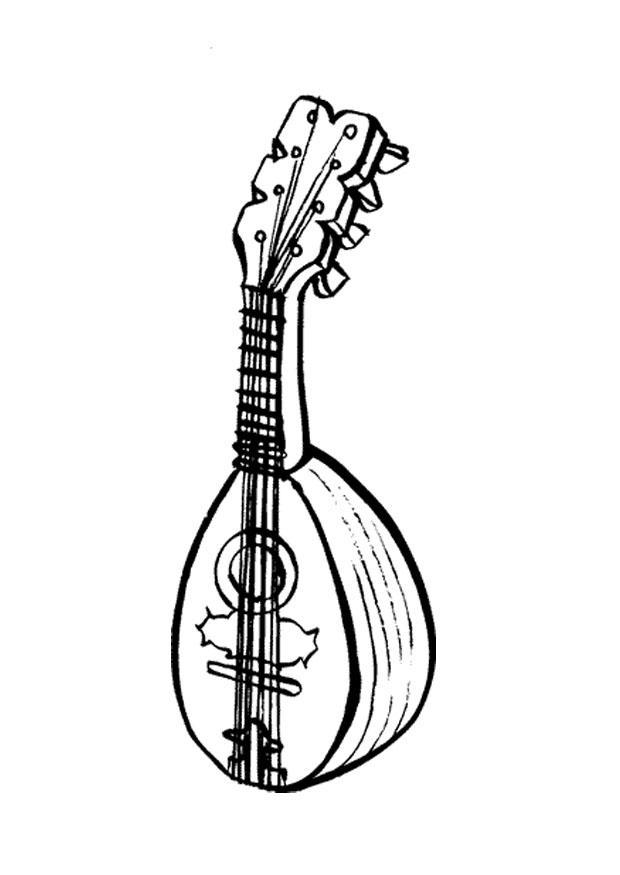 Disegno Da Colorare Mandolino Cat 9588