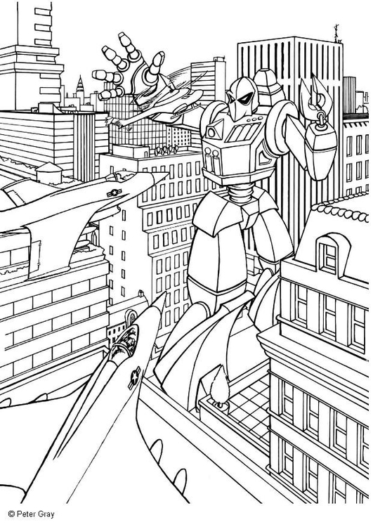 Disegno Da Colorare Manga Transformer Cat 6938