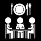 Disegno da colorare mangiare insieme