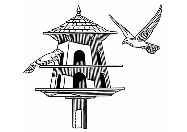 Disegno Da Colorare Mangiatoio Per Uccellini Disegni Da Colorare