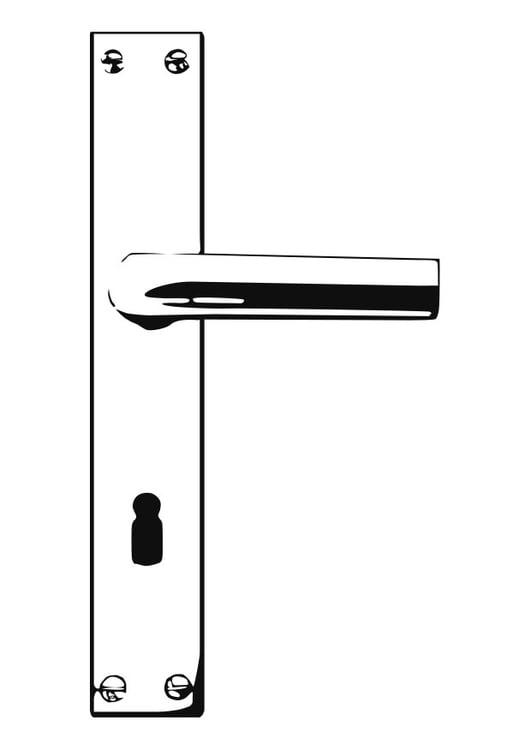 Disegno da colorare maniglia della porta cat 25590 - Maniglia della porta ...