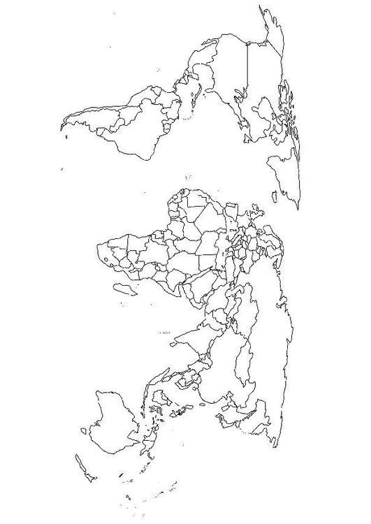Disegno Da Colorare Mappa Del Mondo Cat 15664