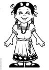 Disegno da colorare Maria dal Messico