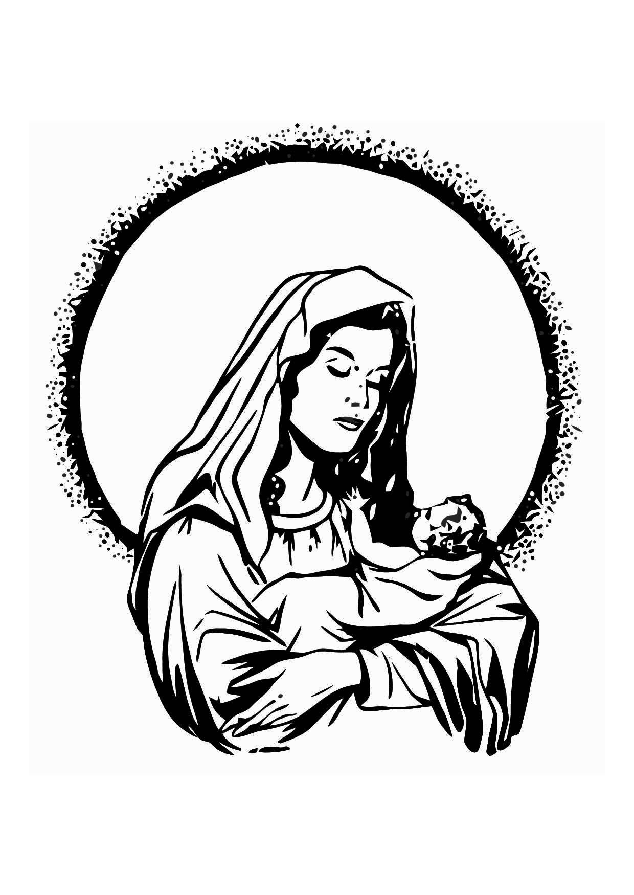 Disegno da colorare maria e ges cat 11344 - Child jesus images download ...