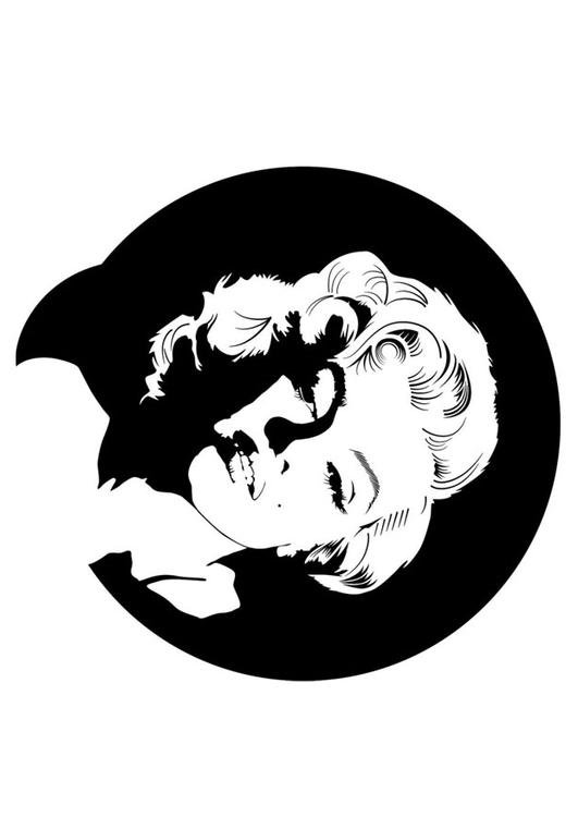 marilyn monroe coloring pages - disegno da colorare marilyn monroe cat 24726