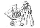 Disegno da colorare marinaio