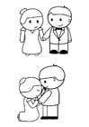 Disegno da colorare marito e moglie