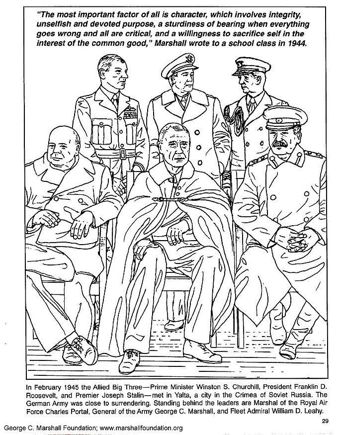 Clash Of Clans Coloring Pages Pdf : Disegno da colorare marshall churchill roosevelt stalin