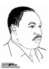 Disegni da colorare Martin Luther King, Jr