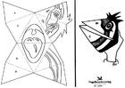 Disegno da colorare maschera a mano senza testo