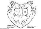 Disegno da colorare maschera di drago