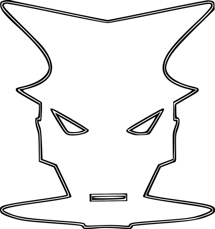 disegno da colorare maschera  disegni da colorare e