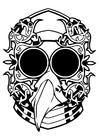 Disegno da colorare maschera fantasy