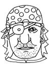 Disegno da colorare maschera pirata