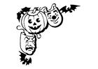 Disegno da colorare maschere Halloween