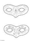 Disegno da colorare maschere