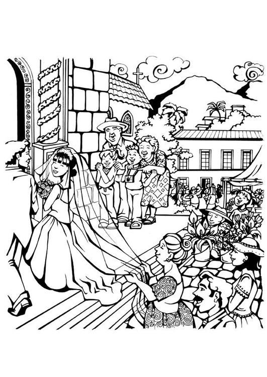 Disegno Da Colorare Matrimonio Cat 7097