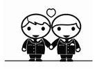Disegno da colorare matrimonio gay tra uomini
