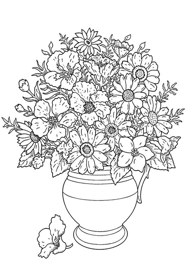 Disegno Da Colorare Mazzo Di Fiori Cat 19137