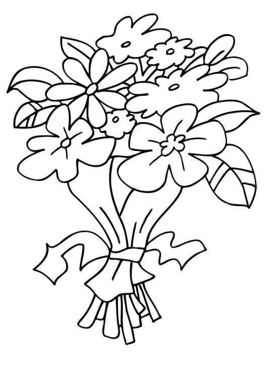 Disegni Fiori.Disegno Da Colorare Mazzo Di Fiori Disegni Da Colorare E
