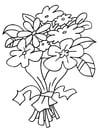 Disegno da colorare mazzo di fiori
