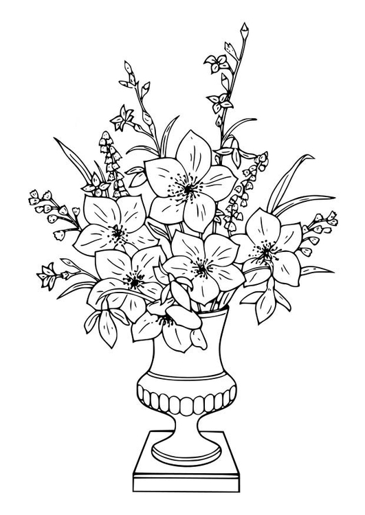 Disegno da colorare mazzo di gigli cat 18643 for Disegno vaso da colorare