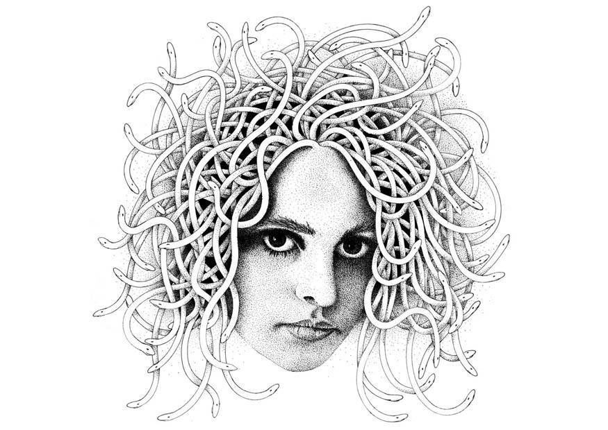 Disegno da colorare medusa cat 9395 for Medusa da colorare