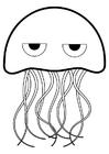 Disegno da colorare medusa