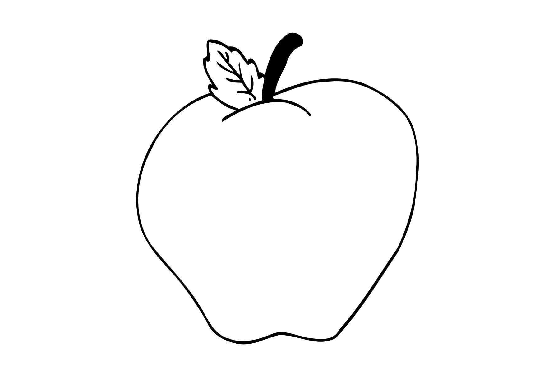 Disegno Da Colorare Mela Cat 12305