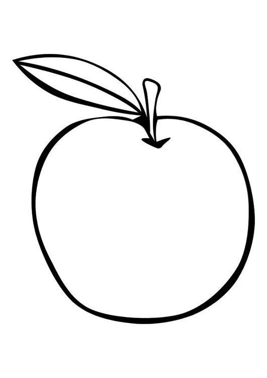 Disegno Da Colorare Mela Cat 10094