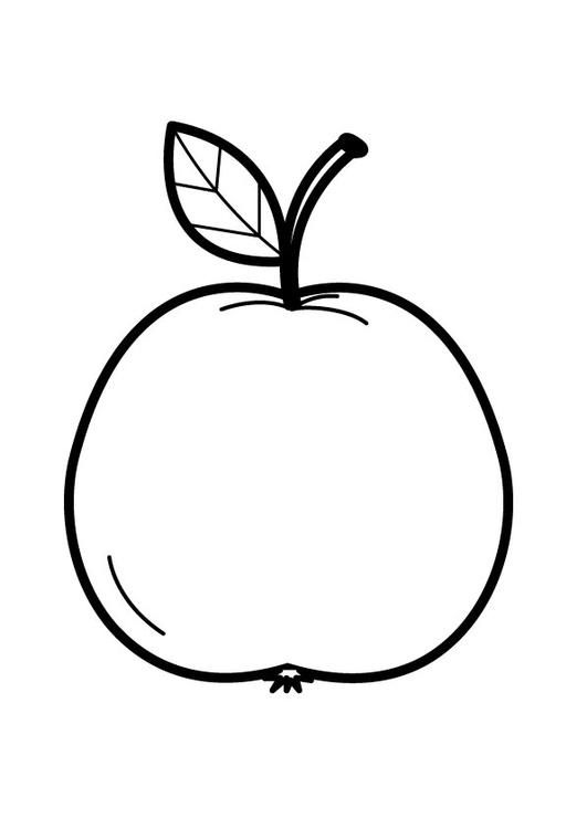 Disegno Da Colorare Mela Cat 23173
