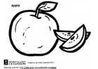 Disegno da colorare mela