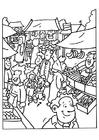 Disegno da colorare mercato