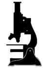Disegno da colorare microscopio