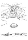 Disegno da colorare Missione di salvataggio con elicottero