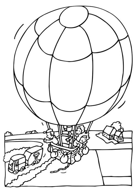 Disegno da colorare mongolfiera cat 6522 for Mongolfiera da colorare