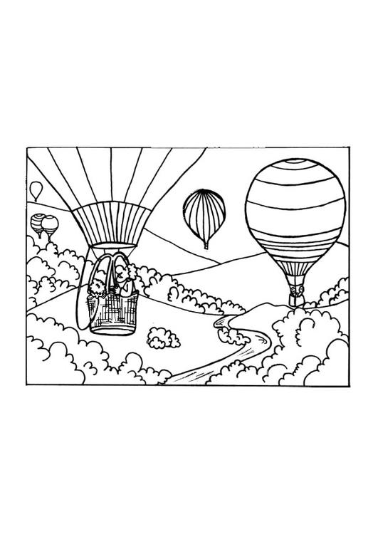 disegno da colorare mongolfiera  disegni da colorare e